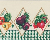 Colorful Fabric Border Trim - Houndstooth and Vegetables