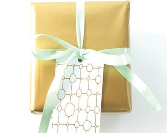 deco gold foil gift tags