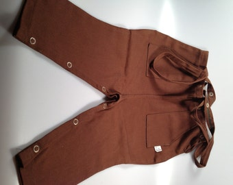1950s Vintage Childs JODHPURS With SUSPENDERS  Brown Pants Riding Pants DEADSTOCK Size 4 Riding Pants New Old Stock