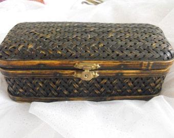 Vintage Basket Box - Reed - Very sturdy