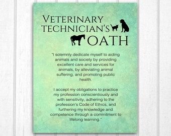 Veterinary Technician's Oath
