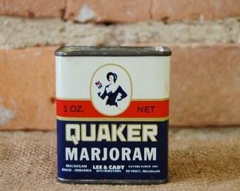 Antique Quaker Marjoram Tin