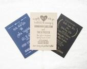 Wedding Invitation Suite Samples - Wedding Stamp Sample - Stamped paper samples -