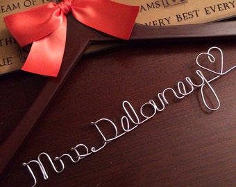 HUGE SALE Wedding Bridal Name Hanger Personalized