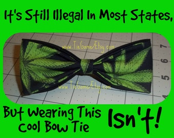Marijuana Bow Tie, As Always U.S. SHIPPING Is ONLY 1.49 - Order One or Ten and Shipping Always 1.99