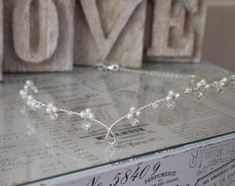Wedding circlet - Bridal circlet -  celtic headdress - forehead headwear - bridal hair - Hair accessories - wedding hair - circlet