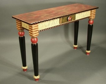 Sofa Table-Turned Legs:  Custom Made-To-Order