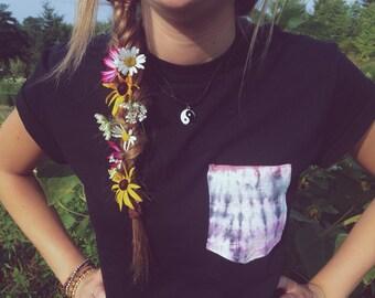 SALE Tie Dye Pocket T Shirt- Choose your fabric!