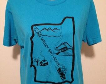 Vintage Vermont Snowmobile Tshirt
