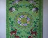 Near 6 Feet Tall Exquisite Silk Embroidered Exotic Needlework ~ Framed Tapestry Wall Hanging ~ Feng Shui Embroidery Textile - Zen Home Decor