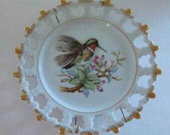 Vintage Hummingbird Plate