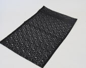 Zippered Black Lace Laundry Bag Small Size