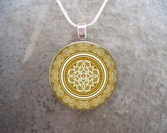 Celtic Jewellery - Glass Pendant Necklace - Celtic Decoration 37