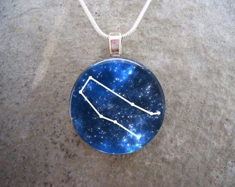 Constellation Gemini Jewelry - Glass Pendant Necklace