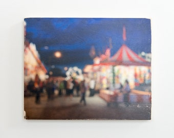 "Fair Night- Limited Edition Fine Art Photo Transfer on 16""x20"" Wood Panel by Patrick Lajoie"