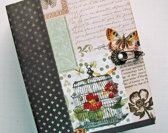 Scrapbook, Mini Album, Handmade, Mariposa, Butterflies, for photos