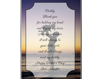 Personalized Plaque for Dad