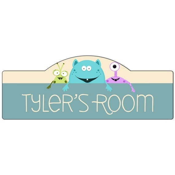 Personalized Monsters Bedroom Door Sign