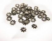100pc 5mm gunmetal finish metal bead cap-8174
