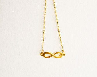 tiny infinity necklace in gold, gold infinity necklace,charm Jewelry, Summer Accessories, Summer Gift