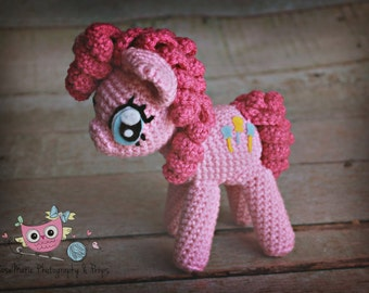 Made to order Crochet pinkie pie inspired doll