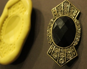 Art Deco jeweled Brooch Silicon Mold