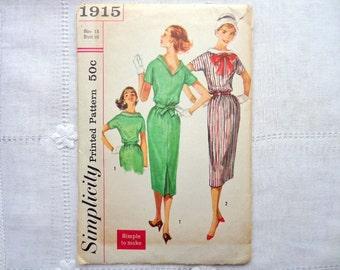 Vintage Simplicity 1915 Dress Pattern Size 15 Bust 35 Uncut