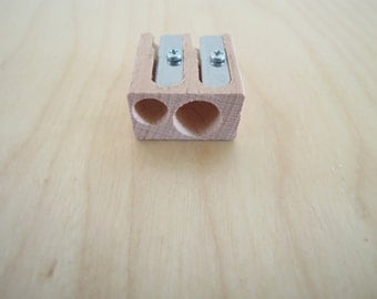 Wood Dubble Pencil Sharpener M+R