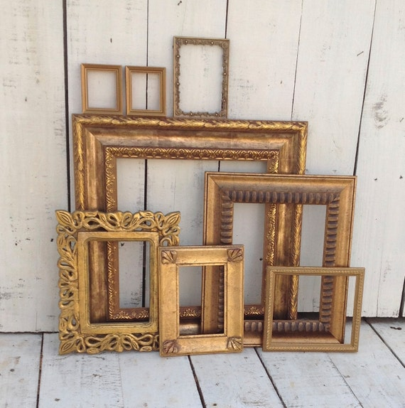 8 Deep Gold Wall Gallery Frames Set Of 8 By Refeatheryournest