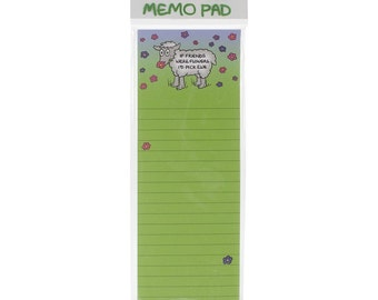 Magnetic Note Pad -If Friends Were Flowers I'd Pick Ewe