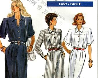 Misses Long or Short Jumpsuit or dress Easy Vogue 7454 Size 6 8 10