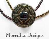 Duchess. OOAK Czech Glass Necklace.