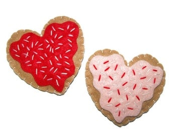 Cat Toys , Catnip Heart Cookies , Catnip Toys  - Available in Catnip, Lemongrass, SilverVine, Valerian, and Honeysuckle