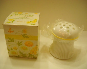 Vintage 1974 Avon Buttercup Flower Holder, Sonnet Perfumed Skin Softener (14)