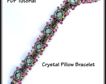 Crystal Pillow Bracelet - PDF Tutorial