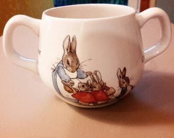 Wedgewood Two Handled Sugar Bowl,  Beatrix Potter's Peter Rabbit