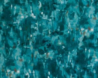 Abstract Turquoise Velvet Upholstery Fabric - Custom Turquoise Velvet Pillow Covers - Modern Heavyweight Blue Velvet for Furniture