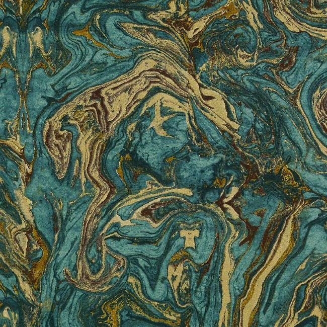 Teal And Gold Upholstery Fabric Abstract Metallic Pillow - Designer upholstery fabric teal