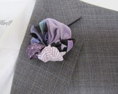 Up-cycled Lapel Pin Boutonniere Flower