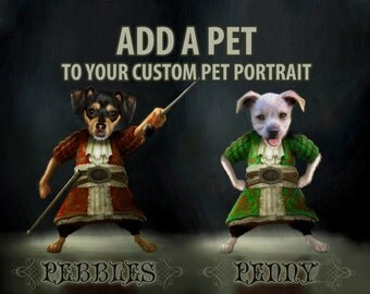 Add Another Pet To Your Pet Portrait