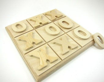 Wooden Game Boards | Unfinished Wood Tic Tac Toe Board, Wood Games, Made in the USA