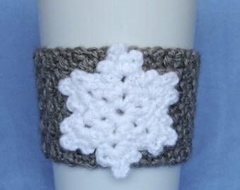 Crochet Snowflake Coffee Cup Cozy