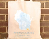 Wedding Day Tote Bags - Wisconsin State Love