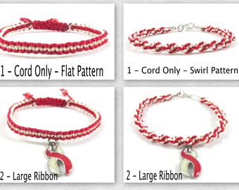 Latex Allergy Awareness Bracelet, Macrame, Specifcally made for this cause!!
