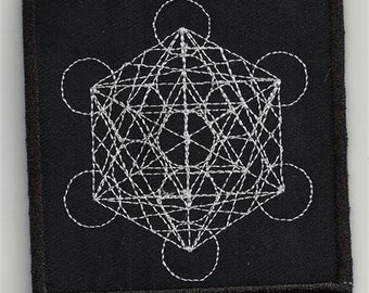 Metatron, sacred geometry - embroidered patch, BUY3 GET4, 3,2 X 3,2 INCH