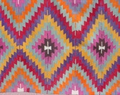 "VINTAGE Turkish Area Rug Kilim Carpet, Handwoven Kilim Rug,Antique Rug Kilim,Decorative Rug,Red Rug  48,4"" X 66,5"""