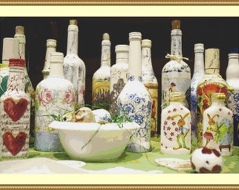 The Bottle Collection Cross Stitch Pattern