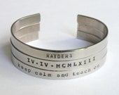 Custom hand-stamped bracelet, design your own, nickel silver bracelet, personalize with up to 65 characters/spaces
