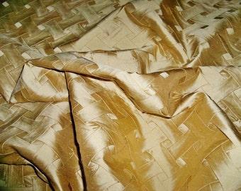 LEE JOFA Kravet Couture Romantic MARLOW Silk Pleat Fabric 10 Yards Gold