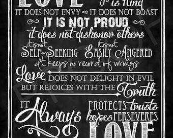 Scripture Art - I Corinthians 13:4-8